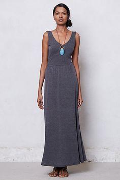 Anthropologie Striped Empire Day Dress, in Dark Grey, $98