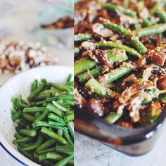 This vegan green bean casserole was a hit for dinner, thanks to @ ...