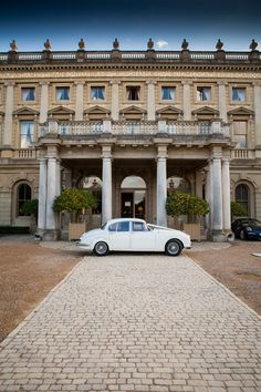 Entrance facade at Cliveden House, Buckinghamshire, UK Wedding Venues Berkshire, Wedding Venues Uk, Party Venues, Wedding Car, Event Venues, Wolfeboro Inn, Family Travel Insurance, Porte Cochere, Country Hotel
