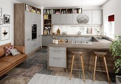 Best Purely Magnet Fitted Kitchens Images On Pinterest Fitted - Grey fitted kitchens