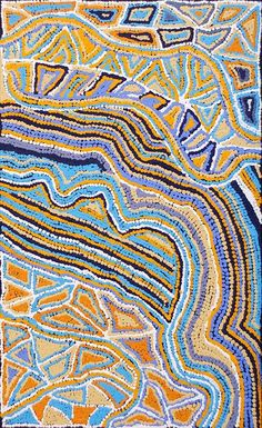 Maggie Napaljarri Ross / Mininypa Jukurrpa (Native Fuchsia Dreaming) 76 x 46 cm Aboriginal Dreamtime, Aboriginal Dot Painting, Aboriginal Artists, Didgeridoo, Aboriginal Culture, Blue Horse, Australian Art, Indigenous Art, Native Art