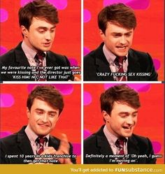 Oh, Daniel. - FunSubstance - Daniel's moving on up and putting on his big boy pants. Harry Potter Humor, Harry Potter Cast, Harry Potter Love, Harry Potter Fun Facts, Im Moving On, Kill Your Darlings, No Muggles, Fandoms, Daniel Radcliffe