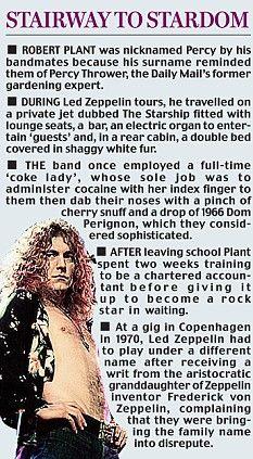 Weird/crazy facts Led Zeppelin