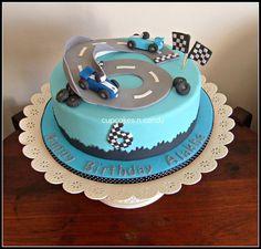 Racing Car Cake  Cake by jillybean