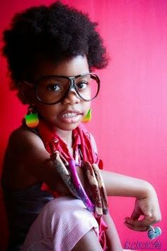 Little girl's got style -- natural hair