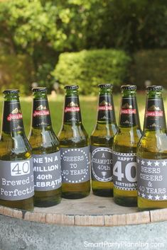 These 40th birthday beer and wine printable labels are great for use as party decor or even to make an awesome 40th birthday gift.