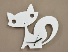 Fox Kids Cartoon Silhouette - Wall Clock