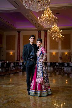 Indian bridal lehnga with jacket on IndianWeddingSite.com