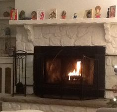 First fire in the fireplace! 12/26/14