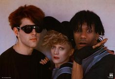 We love the 80's, and we know you do too! Here's a great 'blast from the past' poster just for you: An awesome band portrait of The Thompson Twins! An original published in 1984! Ships fast. 23x35 inc