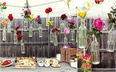Het terras decoreren met bloemen