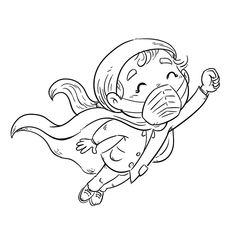 Colouring Pages, Printable Coloring Pages, Coloring Pages For Kids, Superhero Coloring Pages, Digital Stamps, Preschool Activities, Painted Rocks, Illustration, Chibi