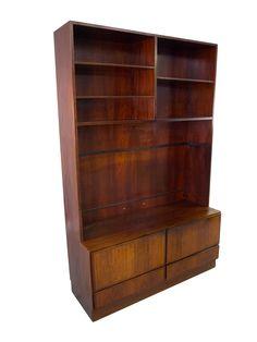 Teak Bookcase Bar Danish Modern Mid Century By VintageDanishModern
