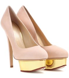 Charlotte Olympia | Dolly Suede Plateform Pumps | WedLuxe Magazine | #wedding #luxury #weddinginspiration #shoes #bridalheels #bridetobe #style