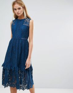 Get this Whistles's midi dress now! Click for more details. Worldwide shipping. Whistles Lace Panel Midi Dress - Blue: Midi dress by Whistles, Sheer lace, Partially lined, Crew neck, Laddered trims, Tiered skirt, Regular fit - true to size, Dry clean, 100% Polyester, Our model wears a UK 8/EU 36/US 4 and is 178cm/5'10 tall. With a focus on beautiful cuts, premium fabrics and cutting-edge design, Whistles create timeless pieces with a directional edge. Whistles channel an effortlessly chic…