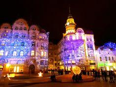 #Oradea #winterfest Romania, Times Square, Travel, Viajes, Destinations, Traveling, Trips
