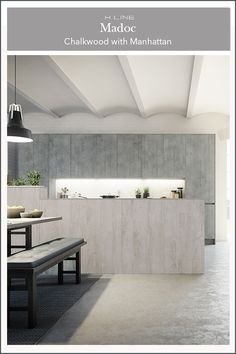 Mix and match different textures to create a modern kitchen design that has the industrial look for the home. Opt for a handleless kitchen design - perfect for open plan living. Masterclass Kitchens distribute kitchens across to independent retailers across England, Wales and Scotland
