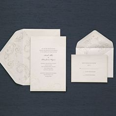 White Wisp Invitation Kit