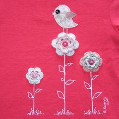 """Camiseta """"Observando desde las flores"""", Niños y bebé, Ropa, Ropa, Camisetas, Crochet, Ropa, Fechas señaladas, Cumpleaños"""