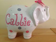 Hey, I found this really awesome Etsy listing at https://www.etsy.com/listing/232573025/personalized-large-elephant-piggy-bank