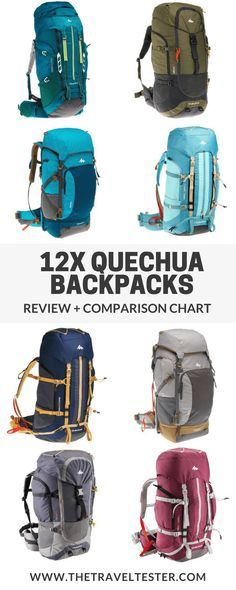 Backpack Review Quechua Forclaz + Comparisons with all 50-80L Quechua Backpacks! || The Travel Tester