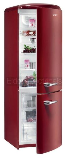 I LOVE this! It would look so great when I finish switching appliances to red! gorenje retro fridge