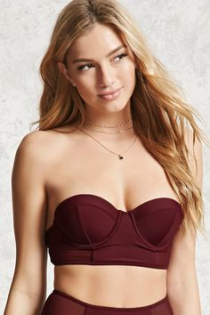 c1219e7c4f170 34 Of The Best Places To Buy Bras Online. A bustier-style bikini top  featuring mesh side panel details