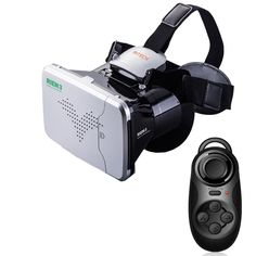 Ritech Iii Vr Virtual Reality Glasses Headset Oculus Rift Head Mount Cardboard For Phone + Bluetooth Remote Control. Virtual Reality Glasses, Virtual Reality Headset, Mobiles, Google Vr, 3d Vr Box, Smartphone Price, 3d Video, Bluetooth Remote, Tecnologia