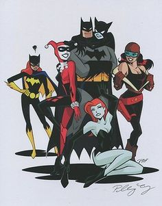 Batman Poison Ivy Harley Quinn Catwoman Roxy Rocket Batgirl Signed 11x14 Print PJ's Collectibles