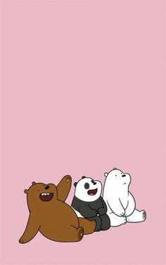 Friendship wallpaper panda grizz and ice bear ❄️ Bear Wallpaper, Kawaii Wallpaper, Cute Wallpaper Backgrounds, Wallpaper Iphone Cute, Cartoon Wallpaper, Disney Wallpaper, Laptop Wallpaper, Mobile Wallpaper, We Bare Bears Wallpapers