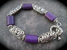 Brighton Style Purple Bracelet with by HeidiDiCesareDesigns, $15.00