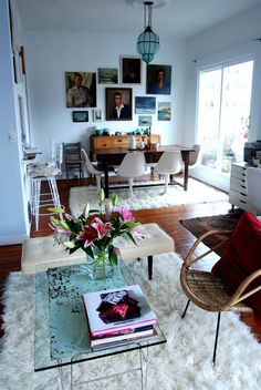 Eclectic living/dining