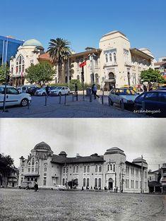 İzmir Milli Kütüphane... (100 yıl önce,100 yıl sonra) Düzenleme: Ercan Baysal Belle Villa, Ankara, Istanbul, Taj Mahal, Nostalgia, Old Things, Mansions, House Styles, Wallpaper
