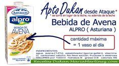 Bebida Avena ALPRO de Central Lechera Asturiana, apta dieta Dukan desde Ataque (y también para la Escalera Dukan desde el lunes)