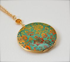 Locket Necklace Alyson Fox Original Artwork Color Study by verabel