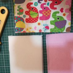 Making a phone pouch: 4mm foam padding, elephants cotton blended fabric, dots cotton fabric and LOVE :-)
