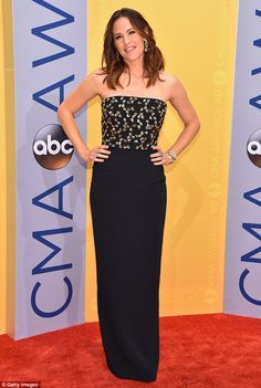 The one that got away: Jennifer Garner looked stunning at the CMAs on Tuesday...