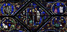 Vidriera de San Eustaquio. Nave lateral septentrional, Chartres (1200-1210)  -6