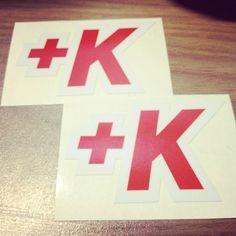 """Sweet new @klout swag, +K stickers"" -- via @shinranshoni"