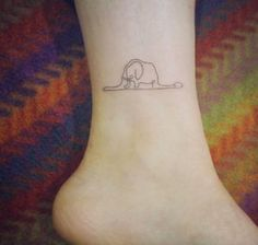 Continuous line elephant by Doy