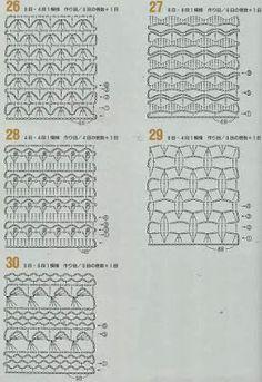 262 patrones crochet by karmittarte - issuu Crochet Stitches Chart, Crochet Motifs, Crochet Diagram, Filet Crochet, Crochet Blanket Patterns, Crochet Lace, Stitch Patterns, Chevron Crochet, Crochet Books