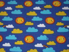 """Bio Jersey   """"Clouds in the Sky"""" by Lillestoff de Retro-Stoff-Cafe por DaWanda.com"""