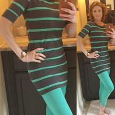 LuLaRoe Julia worn as a tunic with the fabulously soft LuLaRoe Leggings! What an amazing Pair!  Like the look? Come shop: www.facebook.com/lularoekatelea #KateLeaSimplyStylish