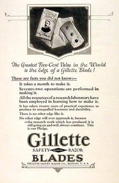 1924 Gillette Safety Razor Blades Ad