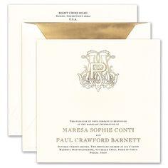 Gold Engraved Wedding Invitation honey-paper.com #destinationwedding