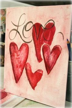 valentines day crafts canvas painting ideas of 2 painting 3174