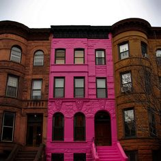 Pink apartment. I live on the top floor with my roommate barbie, and my landlord is the pink ranger!