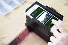 Scan negatives into your iPhone and order prints with this scanner from PhotoJoJo. I need this. Badly.