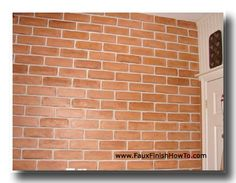 Pictures of Fake Brick and Faux Brick Walls