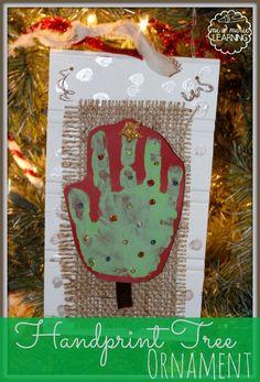 Christmas Tree Handprint Ornament